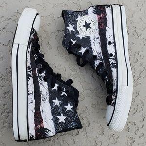 Converse EUC  high top sneakers American flag